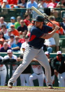 Mar 7, 2015; Sarasota, FL, USA; Boston Red Sox catcher Blake Swihart (71) at bat against the Baltimore Orioles at a spring training baseball game at Ed Smith Stadium. Mandatory Credit: Kim Klement-USA TODAY Sports