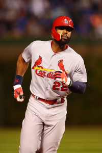 Oct 12, 2015; Chicago, IL, USA; St. Louis Cardinals right fielder <a rel=