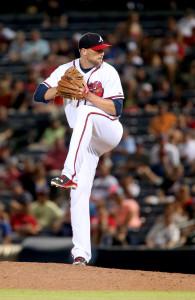 Jul 21, 2015; Atlanta, GA, USA; Atlanta Braves relief pitcher <a rel=