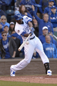 Oct 17, 2015; Kansas City, MO, USA; Kansas City Royals center fielder <a rel=