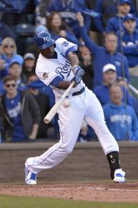 Oct 17, 2015; Kansas City, MO, USA; Kansas City Royals center fielder <a rel=