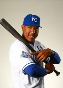 Feb 25, 2016; Surprise, AZ, USA; Kansas City Royals catcher <a rel=