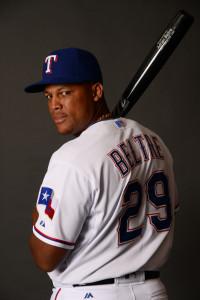 Feb 28, 2016; Surprise, AZ, USA; Texas Rangers third baseman <a rel=