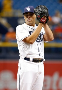 Jul 16, 2016; St. Petersburg, FL, USA; Tampa Bay Rays starting pitcher Matt Moore (55) throws a pitch during the first inning against the Baltimore Orioles at Tropicana Field. Mandatory Credit: Kim Klement-USA TODAY Sports