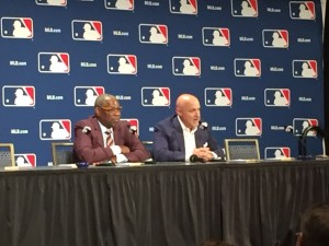 Dusty Baker and Mike Rizzo