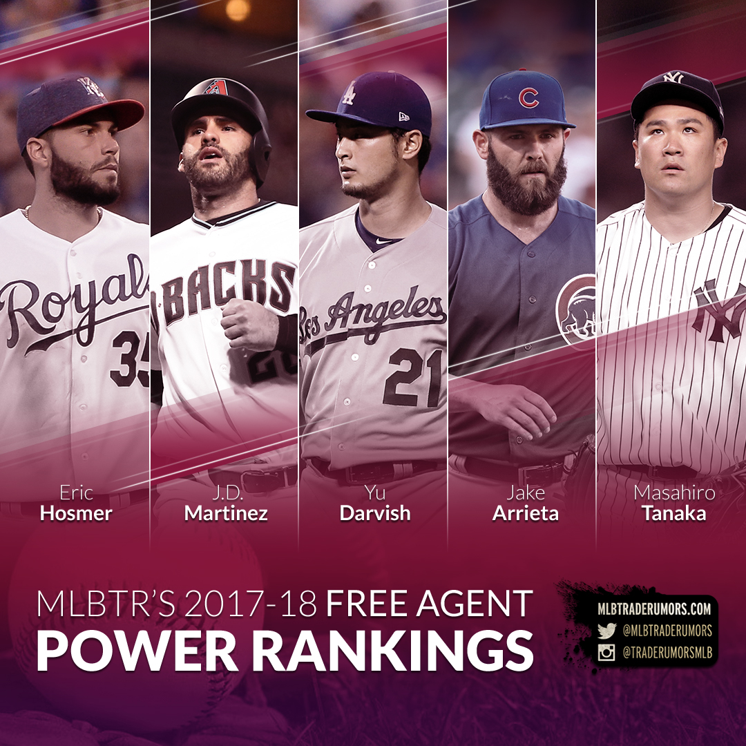 63ba815492e 2017-18 MLB Free Agent Power Rankings Rumors - MLB Trade Rumors